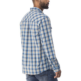 Patagonia High Moss LS Shirt Men Ombre Boxes: Radar Blue